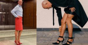 Vajon miért teszi? A 61 esztendős edző szoknyát visel és magassarkút annak ellenére, hogy felesége van és 4 unokája