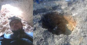 A farmer egy barlangbejáratot talált a földjén